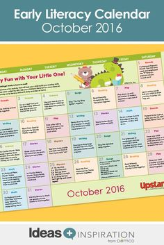 Give this October calendar full of simple, fun ideas to parents for an at-home literacy resource to share with their little goblins — all treats, no tricks! Free Activities, Literacy Activities, Infant Activities, Before Kindergarten, October Calendar, Reading Themes, Family Engagement, Library Programs, Parent Resources