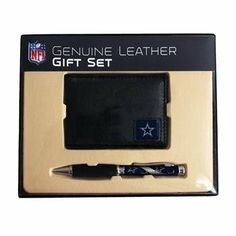 Dallas Cowboys NFL Leather Bifold Wallet & Pen Gift Set by Team Sports America. $35.95. What sports fan wouldnt love these NFL leather and pen gift sets? Our exclusive leather bifold wallet Tri Fold wallet or money clip come with a comfort grip pen featuring your favorite teams logo. These leather goods are made of high quality fine grain leather.. Save 21%!