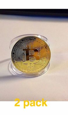 New plated silver bitcoin coin collectible btc coin art collection coins 2 pack bitcoin physical bitcoin gold color btc cryptocurrency collectible coin please retweet ccuart Choice Image