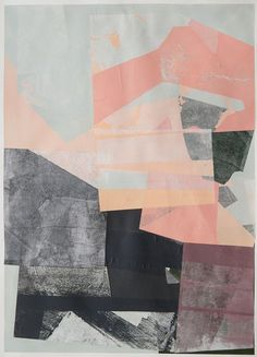collage shapes overlaid prints