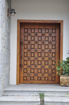 Wooden Front Door Design, Wooden Front Doors, Main Entrance Door, Entry Doors, Entrance Ideas, Door Ideas, Garden Entrance, Oak Doors, Panel Doors