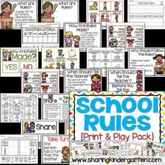 classroom rules printable kindergarten pack