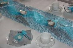 Table decoration Communion turquoise - Home Page Decoration Communion, Deco Table, Decoration Table, 20th Anniversary, Wedding Themes, Christmas Tree Decorations, Decorating Tips, Tablescapes, Floral Arrangements