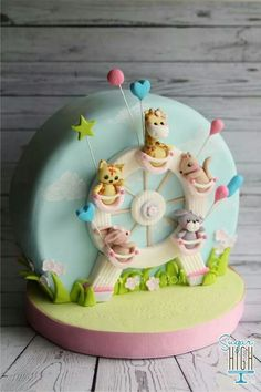 Adorable farris wheel cake