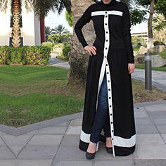 Pearl Abaya / White Abaya / Plus Size Abaya / Abaya with Beads Abaya Fashion, Muslim Fashion, Modest Fashion, Fashion Outfits, Black Abaya, White Abaya, Mode Kimono, Modele Hijab, Mode Abaya