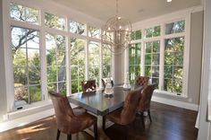 dining room additions with lots of windows | Sunroom Dining Design Ideas, Pictures, Remodel, and Decor