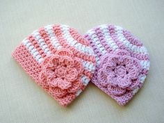 Crochet newborn hats for Girls Newborn twin by LittleBabyProps