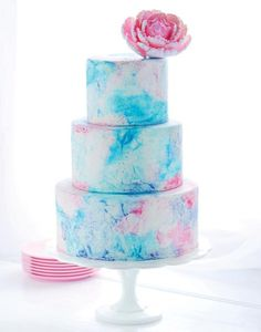 Cake of the Day: Watercolor Graffiti Cake by Sweetapolita