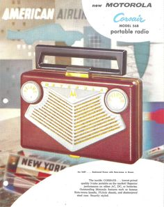 MOTOROLA Portable Radio Dealer Sheet Model 56B1A (USA 1955)_1 ...