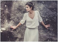 relaxed and chic french wedding dress - Laure de Sagazan