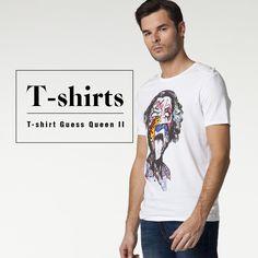 Tshirts on sale.  Guess #jeansstore #fallwinter14 #fall #winter #autumn #autumnwinter14 #onlinestore #online #store #shopnow #shop #fashion #mencollection #men #tshirt #sale #guess #queen #twocolors #white #black #optic #opticwhite #slim #slimfit #roundneck #cotton #printtshirt #print