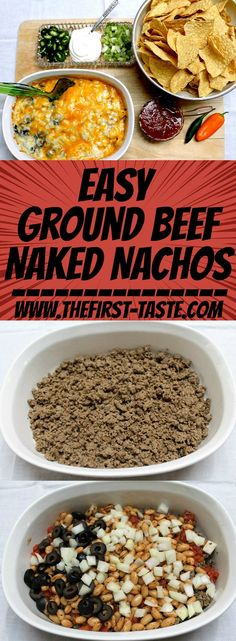 Easy Ground Beef Naked Nachos