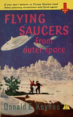 Vintage Pulp Paperback Science Fiction Flying Saucers from Outer Space Donald Keyhoe
