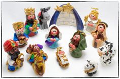 Hey, I found this really awesome Etsy listing at http://www.etsy.com/listing/168722687/christmas-nativity-set-polymer-clay
