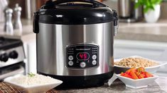 Hamilton Beach Digital Rice Cooker and Steamer is so versatile with its 15 hours delay start time, heat/simmer functions cooks all types of rice and steams vegetables, chicken, fish or shrimp while rice cooks below. Instant Rice, Instant Pot, Best Rice Cooker, Aroma Rice Cooker, Slow Cooker, Rice Cooker Steamer, Best Electric Pressure Cooker, Instant Cooker, Shopping