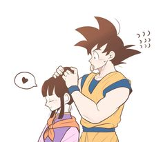 Goku and Chi-Chi (Dragon Ball Z) (c) Toei Animation, Funimation & Sony Pictures Television Dbz, Goku Y Chichi, Dragon Ball Gt, Son Goku, Chi Chi, Anime Love, Baby Animals, Manga Anime, Cartoon