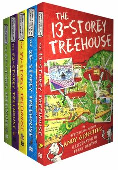 Treehouse Books Collection Andy Griffiths 5 Books Set (The The The The The The 13 Storey Tree house Collection By Andy Griffiths and Terry Denton 5 Books Set 13 Storey Treehouse, Third Grade Books, Play 60, Inspiration For Kids, Chapter Books, Stories For Kids, Book Collection, Easy Diy, Simple Diy