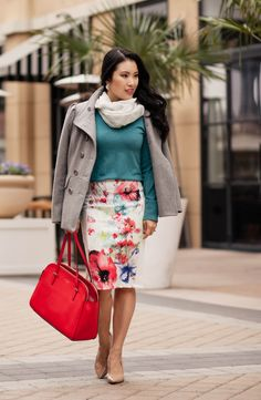 cute & little | Dallas Fashion Blog: Mint Stripe + Floral