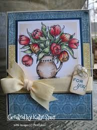 flourishes stamps tulips for friends - Google Search