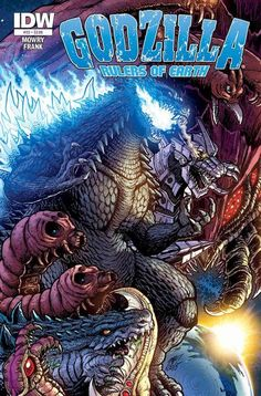 """Godzilla Rulers of Earth #25 cover by KaijuSamurai.deviantart.com on @DeviantArt  This comic could be really good.  Let's give these monsters some love, especially Godzilla and his now awesome """"cousin"""" Zilla (at bottom).  They will be bros for life now."""