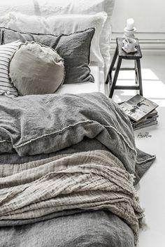 Photographer + Stylist Paulina Arcklin on Behance Linen Bedroom, Bedroom Inspo, Linen Bedding, Bedroom Decor, Linen Sheets, Bed Sheets, Wall Decor, Bed Linen Australia, California Bedroom