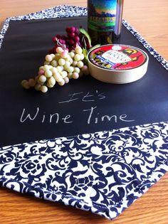 Chalk Cloth Table Runner - Black and White Damask 30 Inch Table Runner on Etsy, $20.00