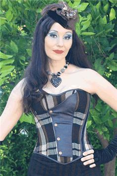 Hilary's Vanity - Time Traveler Corset - #infectiousthreads #goth #gothic #horrorpunk #punk #alt #alternative #psychobilly #punkrock #black #fashion #clothes #clothing #darkfashion #streetfashion