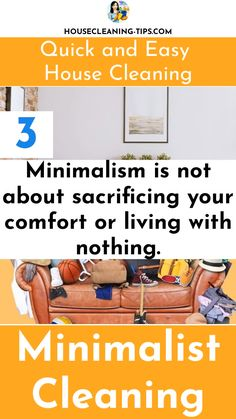 Try Practicing Your Own Version of Minimalism and Create a Home That Is Quick and Easy To Clean #minimalistcleaning Clean House, Minimalism, Cleaning, Create, Easy