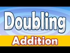 ▶ Addition Doubling Numbers Song ♫ - YouTube  For SECOND grade. Activity: say the math facts along with the video. Lead Topics: double objects by adding them together. Use counters.