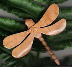 Dragonfly Pin Hand Carved by BunnyRabbitToys on Etsy, $28.00
