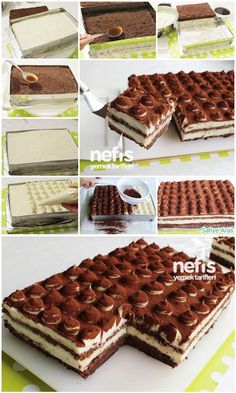 How to make Tiramisu Recipe (with Cake)? Illustrated explanation of Tiramisu Recipe (with Cake) in t Sweet Recipes, Cake Recipes, Dessert Recipes, Dessert Salads, Pasta Cake, Sweet Sauce, Turkish Recipes, Yummy Cakes, Sweet Treats