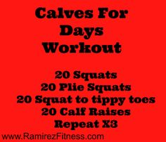 Calves for days workout