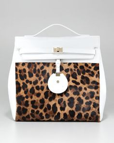 Jourdan Leopard-Print Backpack Bag by Jason Wu at Neiman Marcus.