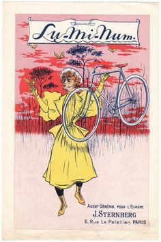 Leaflet for the Lu-Mi-Num cycles, 1897, J. Sternberg, Paris #Booktower