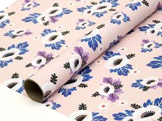 """Anemone Flower Wrapping Paper Pink  Wrap your presents with this floral wrapping paper featuring light pink anemone flowers to add a finishing touch to your gifts.  19"""" x 34"""" 70 lb. matte text FSC-certified / Acid-free / Recycled paper  3 Sheets per set Shipped in a thick paper tube  """"This was delivered quickly and just beautiful! Got compliments on RTR gift wrap (for a wedding gift) and it was sturdy paper but not stiff so easy to wrap. Definitely purchasing more!!"""" - Erin Beth  """"T..."""
