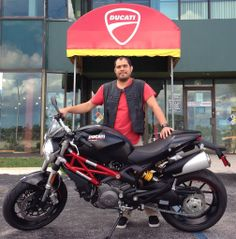 A very happy Ducati rider: Pedro just picked up this Monster 796. Enjoy the ride, Pedro. Thank you!