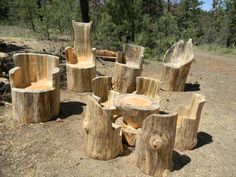 Log Chairs - Sweet Logs