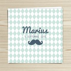 Tannilou - Faire-part naissance MARIUS | Modèle personnalisable gratuitement (texte et couleur) Invitation Paper, Invitations, Boy Post, Marius, Announcement Cards, Stationery Design, Etiquette, Letterpress, Baby Love