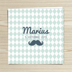 Tannilou - Faire-part naissance MARIUS   Modèle personnalisable gratuitement (texte et couleur)
