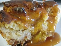 Eggnog Bread Pudding with Nutmeg and Caramel...xmas morning called and ordered this for bfast.