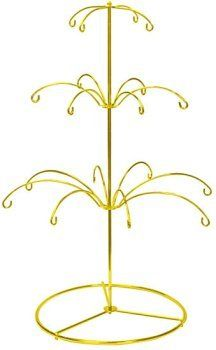 National Artcraft Ornament Display Stand in Bright Gold Finish Holds 18 Christmas Or Holiday Ornaments Beaded Ornaments, Holiday Ornaments, Tree Jewelry Holder, Glass Floats, Craft Show Displays, Arts And Crafts Supplies, Craft Sale, Event Decor, Hanger