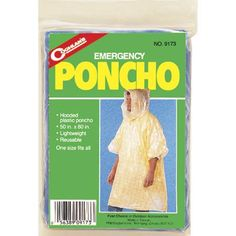 Coghlans Emergency Poncho - Stay dry on the rainiest of days with the Coghlans Emergency Poncho . This lightweight poncho is a great choice for sporting events, festivals,. Rain Poncho, Online Discount, Exterior Siding, Camping Accessories, Camping Life, Rain Wear, Disney Vacations, Corporate Gifts, Disney Parks