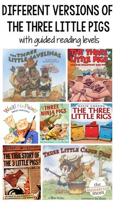 Teach your students to compare versions of fairy tales with these different versions of The Three Little Pigs! 3 Little Pigs Activities, Reading Activities, Fairy Tales Unit, Fairy Tales For Kids, Guided Reading Levels, Reading Lists, Storybook Gardens, Fractured Fairy Tales, Traditional Tales