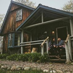 """1,574 Likes, 17 Comments - Log Cabins (@cabinsdaily) on Instagram: """"Loving this rustic old cabin  Would you stay here? . By @teapartyx"""""""