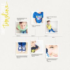 new in the shop   timeline templates & press clippings no. 1