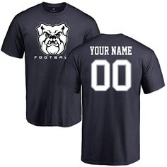 Butler Bulldogs Personalized Football T-Shirt - Navy
