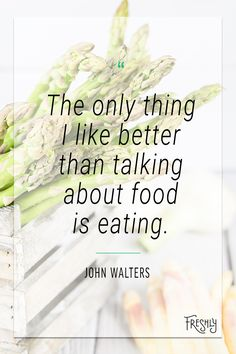 "Repin if you agree! ""The only thing I like better than talking about food is eating."" John Walters. Food Quotes, Pampered Chef, Food For Thought, Healthy Eating, Menu, Love You, How To Plan, Eating Healthy, Menu Board Design"