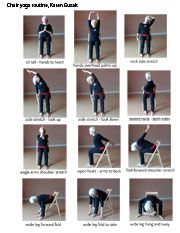 easy yoga poses for seniors  yoga with a chair level 1