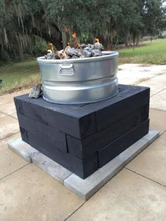 DIY gas fire pit made from a stock/water tank | Back Yard ...