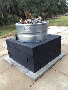 DIY propane gas fire pit...